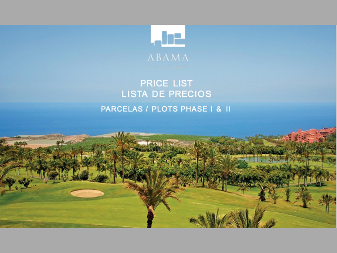 Building plots of Land in Abama, Tenerife
